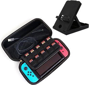 Funda y Soporte para Nintendo Switch, Estuche de Transporte con ...