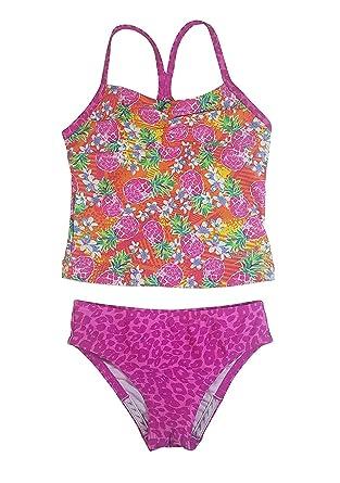 7fd28c820fe83 Amazon.com  Speedo Girl s Sporty Splice Tankini 2 Piece Swimsuit ...