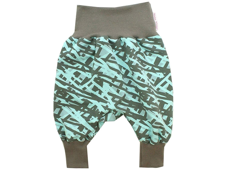 Kleine K/önige Pumphose Baby Sweathose Jungen /· Modell Streifen Kreuz und Quer Boy grau /· /Ökotex 100 Zertifiziert /· Gr/ö/ßen 50-164