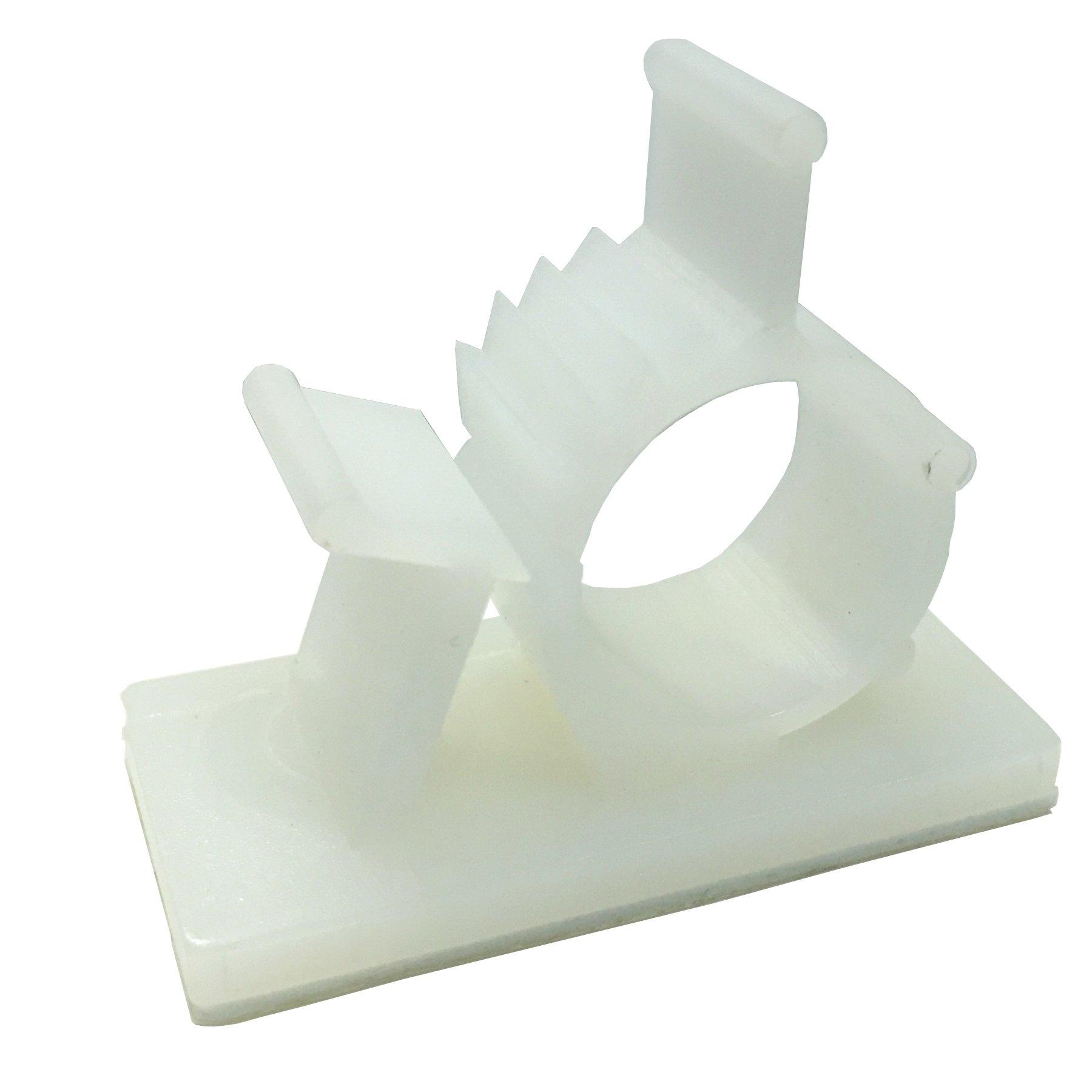 Gardner Bender GKK-1550 Plastic Kwik Clips UVB, Adjustable and Ratcheting, ½ in Dia, 4 Pk., White