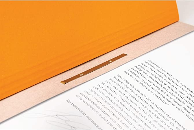 Falken /Ösenhefter Made from Recycled Card Whole Front Cover//Office Binder Orange