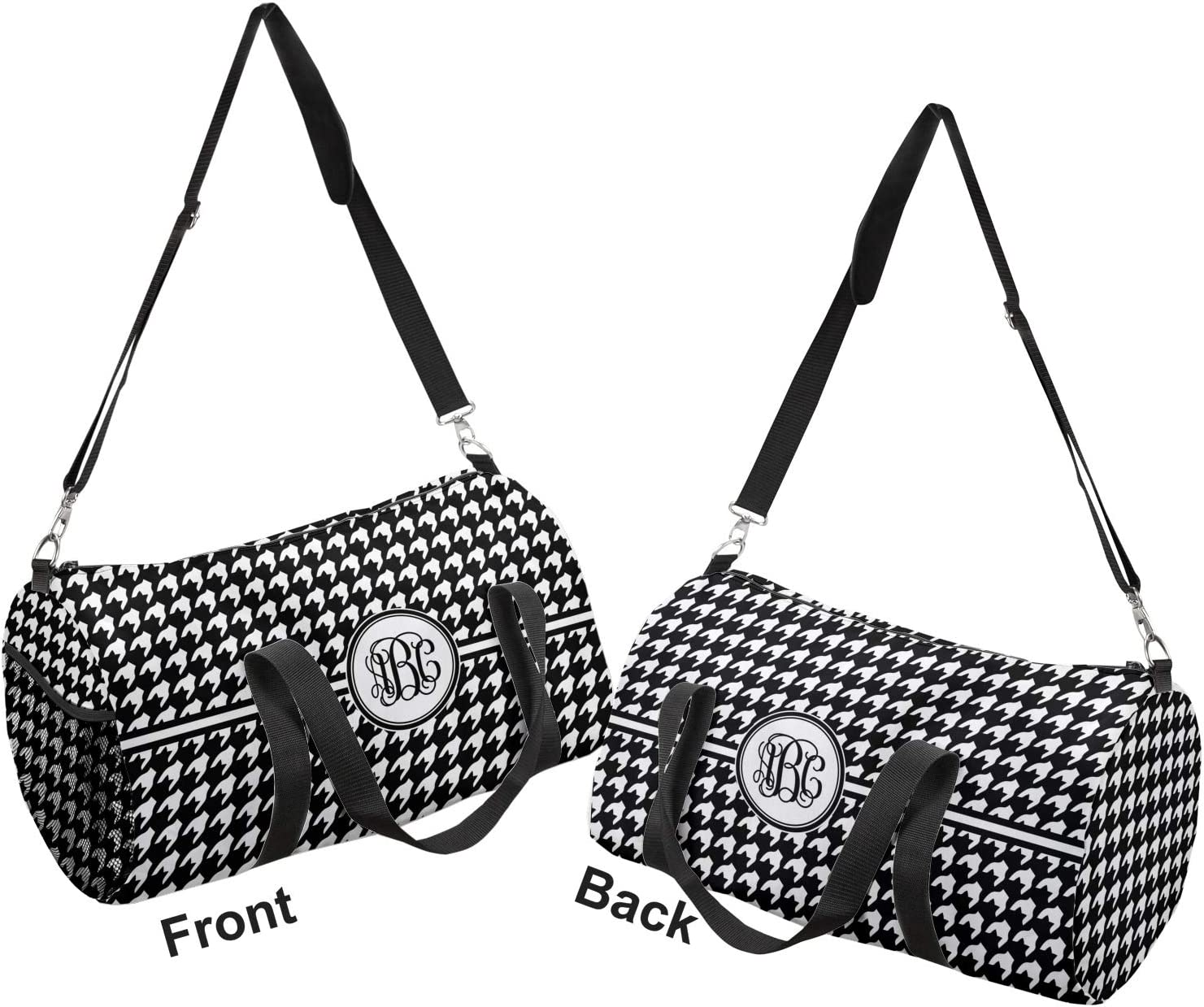 Personalized Houndstooth Duffel Bag