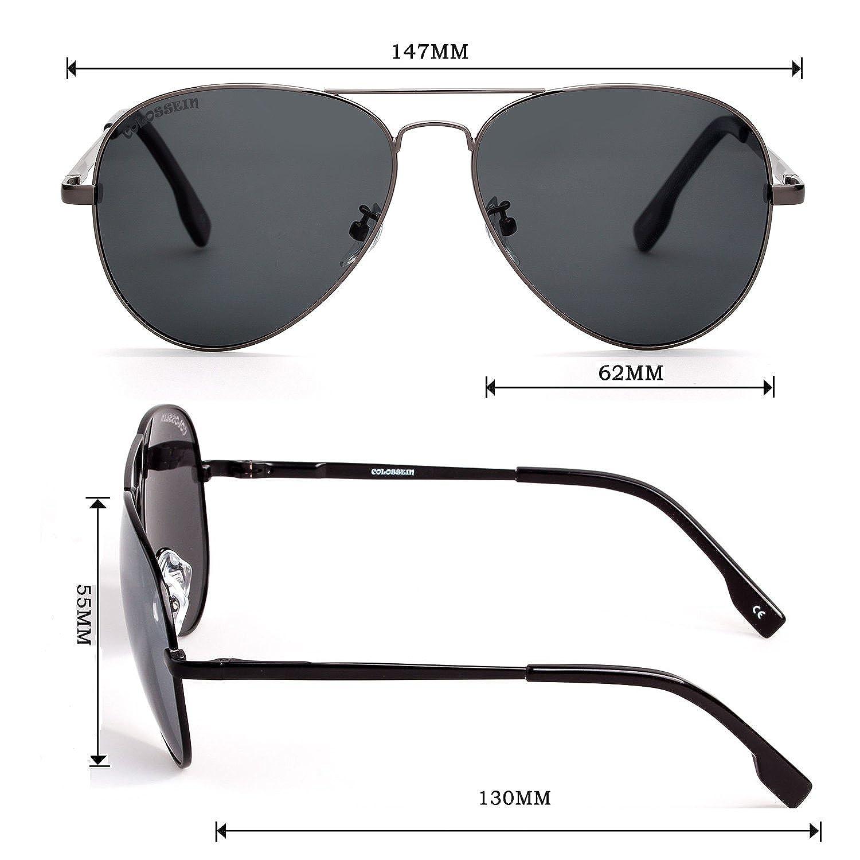 bdbee54dc1c Amazon.com  Mens Black Sunglasses Aviator