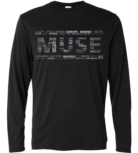 Camiseta Hombre Muse Multi Text - Camiseta 100% algodòn LaMAGLIERIA QocOm6