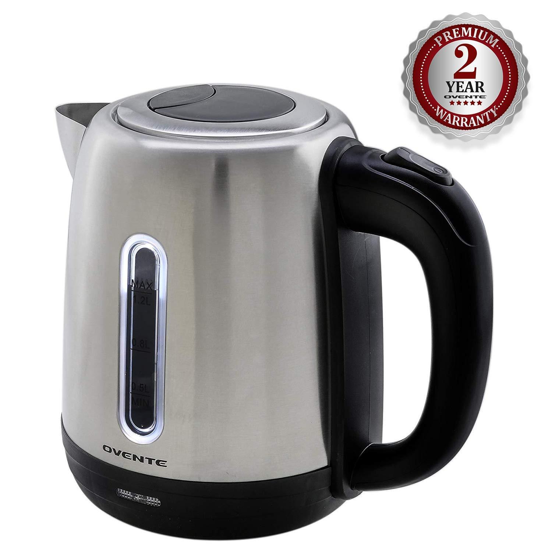 Amazon.com: Ovente 1,7 Litro sin BPA Acero Inoxidable té ...