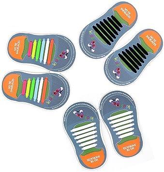 Cordones Elásticos sin corbata Cordones de zapatos para niños y ...