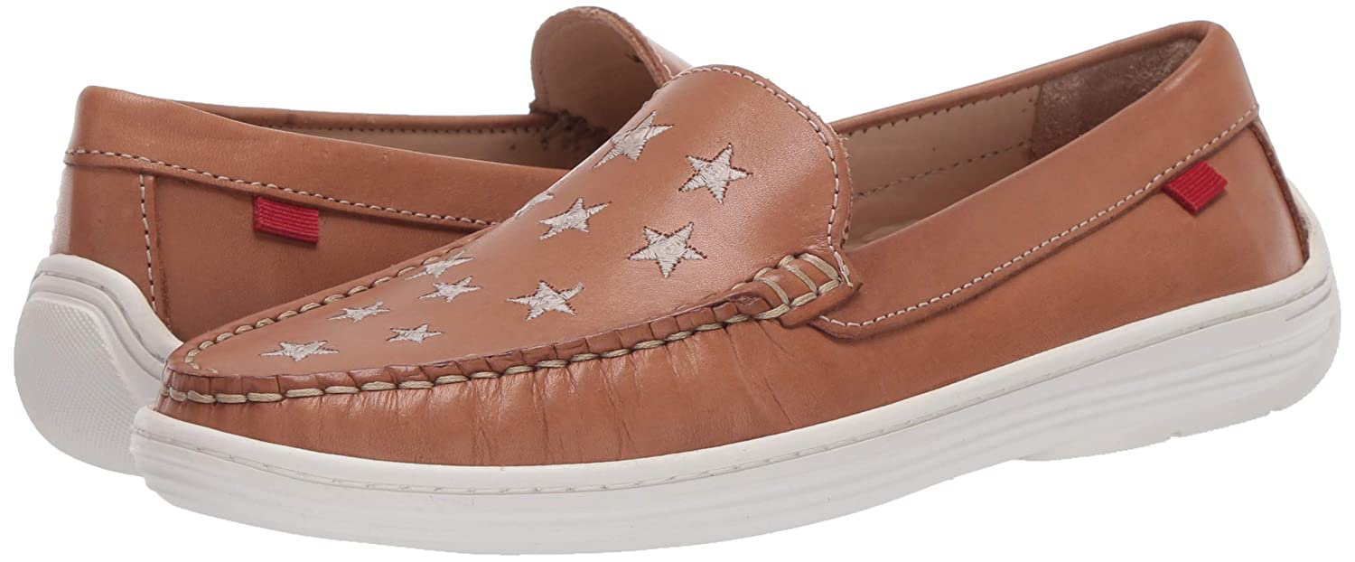 MARC JOSEPH NEW YORK Kids Leather Driver with Gold Star Detail Loafer