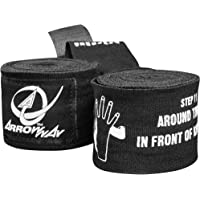 """ArrowWay Instructional Hand Wraps w/Printed Directions for Boxing & MMA - 142"""" Meister Elastic"""