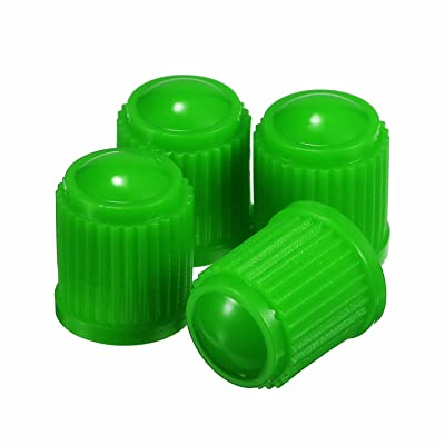 Outus 20 Pack Tyre Valve Dust Caps for Car, Motorbike, Trucks, Bike, Bicycle (Green): Automotive