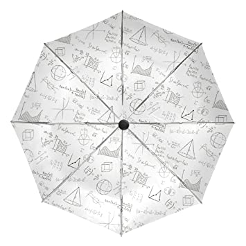 Amazon com: Compact Travel Umbrella Funny Math Linear Equations Wind