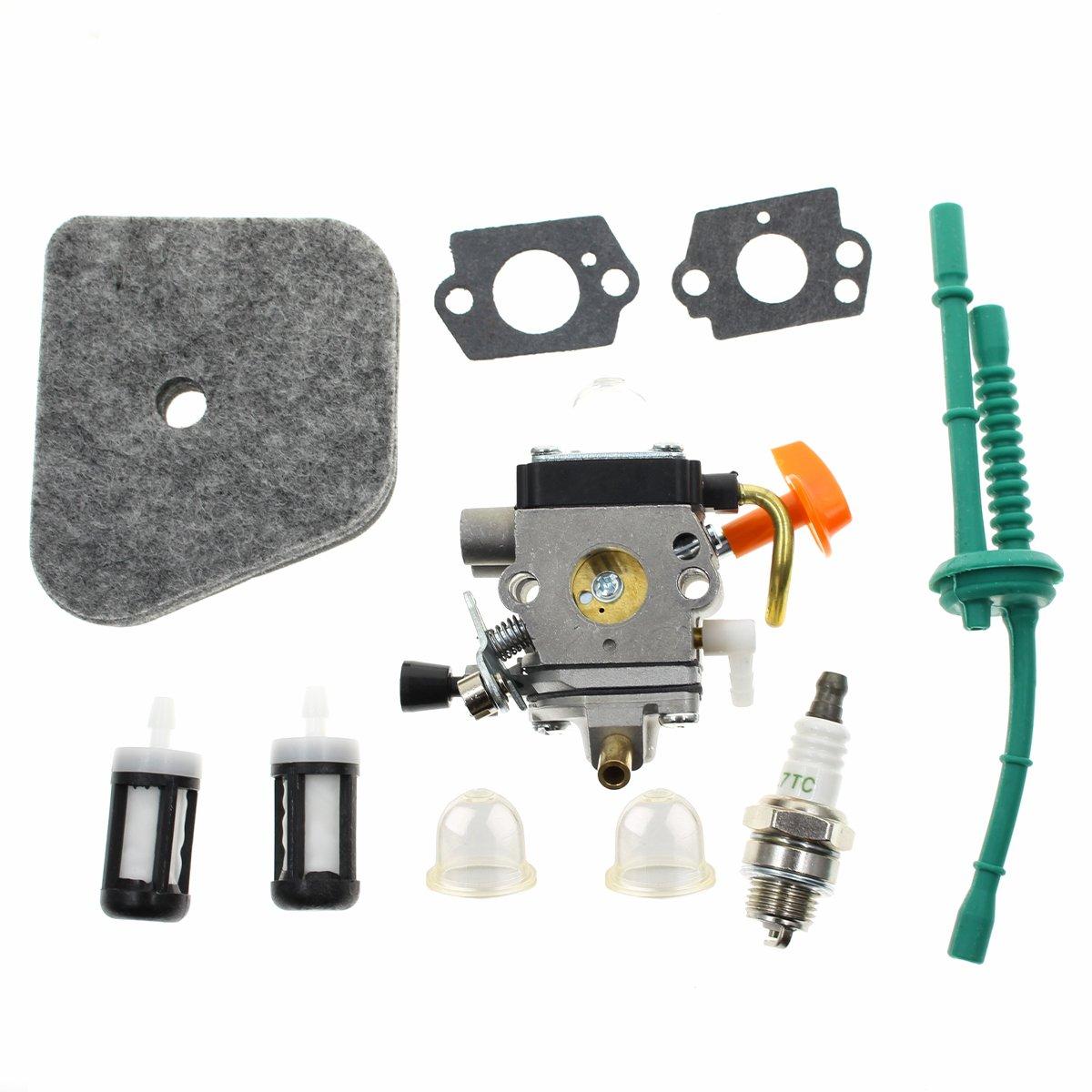 Carbhub Carburetor for STIHL FS100 FS100R FS110 FS110R FS110X FS110RX FS100RX FS130 FS130R Trimmer with Fuel Line Tune Up Kit