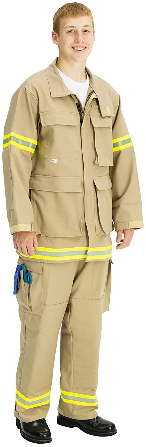 Tall//3X-Large 54-56 Size TOPPS SAFETY JK28-3950-Tall//54-56 INDURA ULTRA SOFT Extrication Suit Jacket Tan 9.0 oz