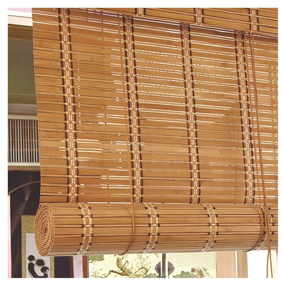 JIANFEI 竹ブラインド光フィルタリング 仕切りカーテン ローラーブラインド 木製トラック リフティングシステム 、3色 、23サイズ カスタマイズのサポート (色 : C, サイズ さいず : 135x300cm) 135x300cm C B07RM6HTC4