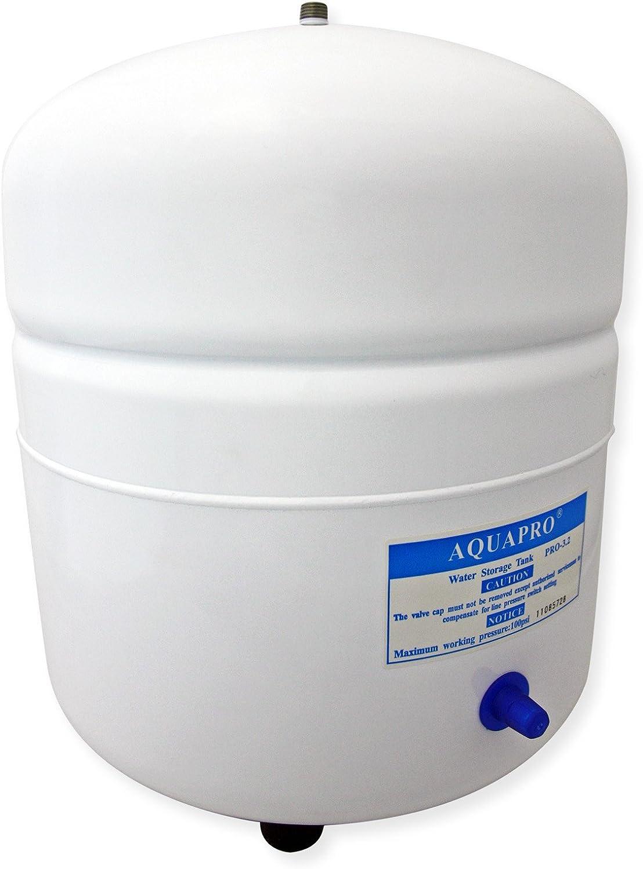 Tanque Depósito agua para osmosis inversa 12,1 litros de acero 1/4