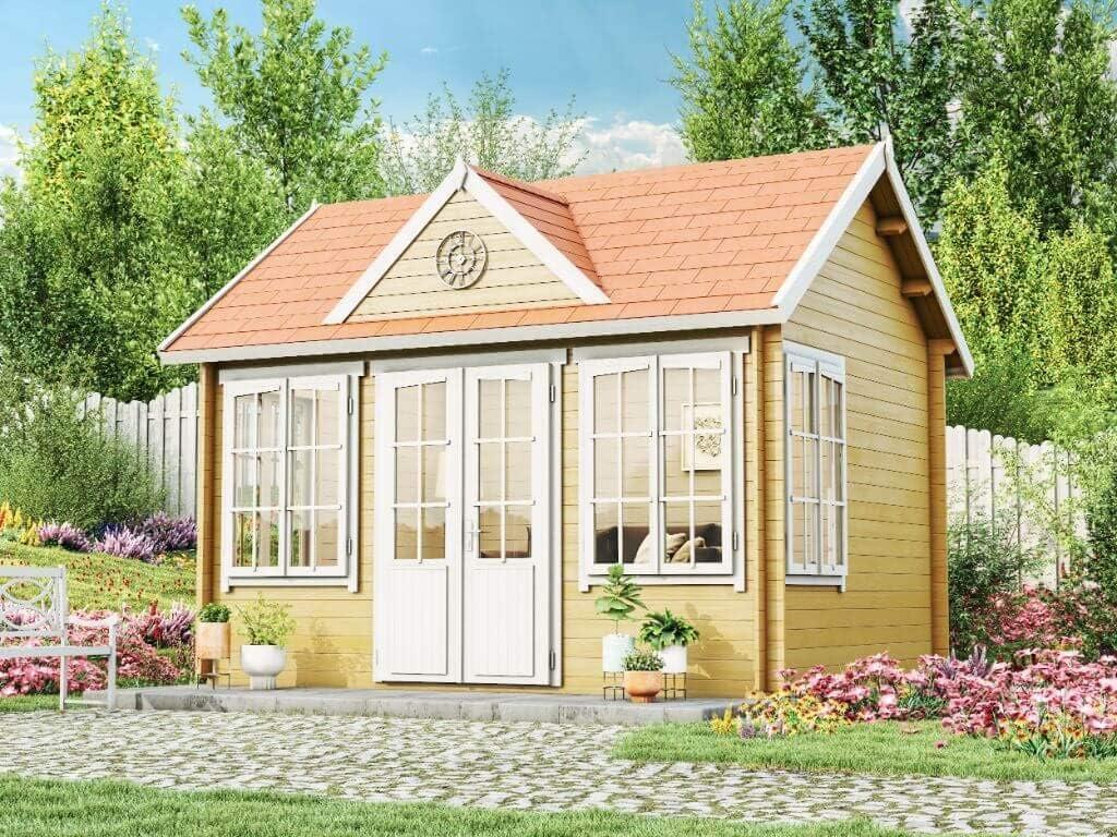Caseta para jardín de Alpholz Carolina-28, casa de madera con ...