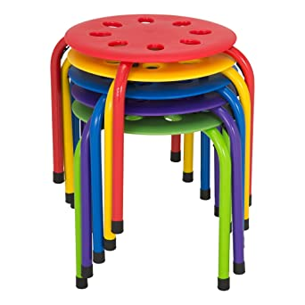 Norwood Commercial Furniture NOR AUH1200AC SO Plastic Stack Stools 12u0026quot;  Height (Pack