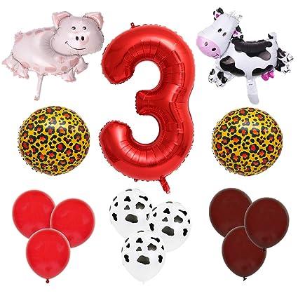 Amazon.com: Farm Animal - Paquete de globos para decoración ...