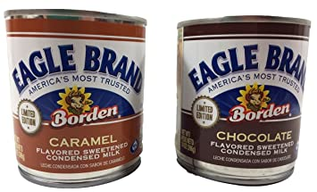 Eagle Brand Limited Edition Flavors - One Each, Caramel Sweetened Condensed Milk, Chocolate Sweetened
