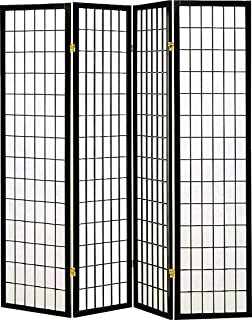 Amazoncom ORE International Panel Room Divider Cherry - 4 panel room divider