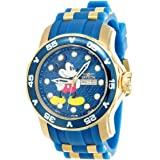 Invicta Women's 'Disney Limited Edition' Quartz Stainless Steel and Silicone Casual Watch, Color:Two Tone (Model: 23771)