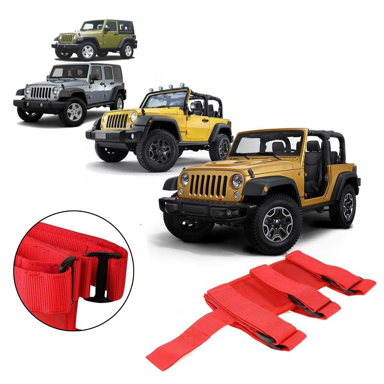 RUNGAO Car Fire Extinguisher Fixed Holder Fit For Jeep Wrangler Auto Adjustable Roll Bar