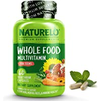 NATURELO Whole Food Multivitamin for Teens - Vitamins and Minerals for Teenage Boys and Girls - Supplement for Active…
