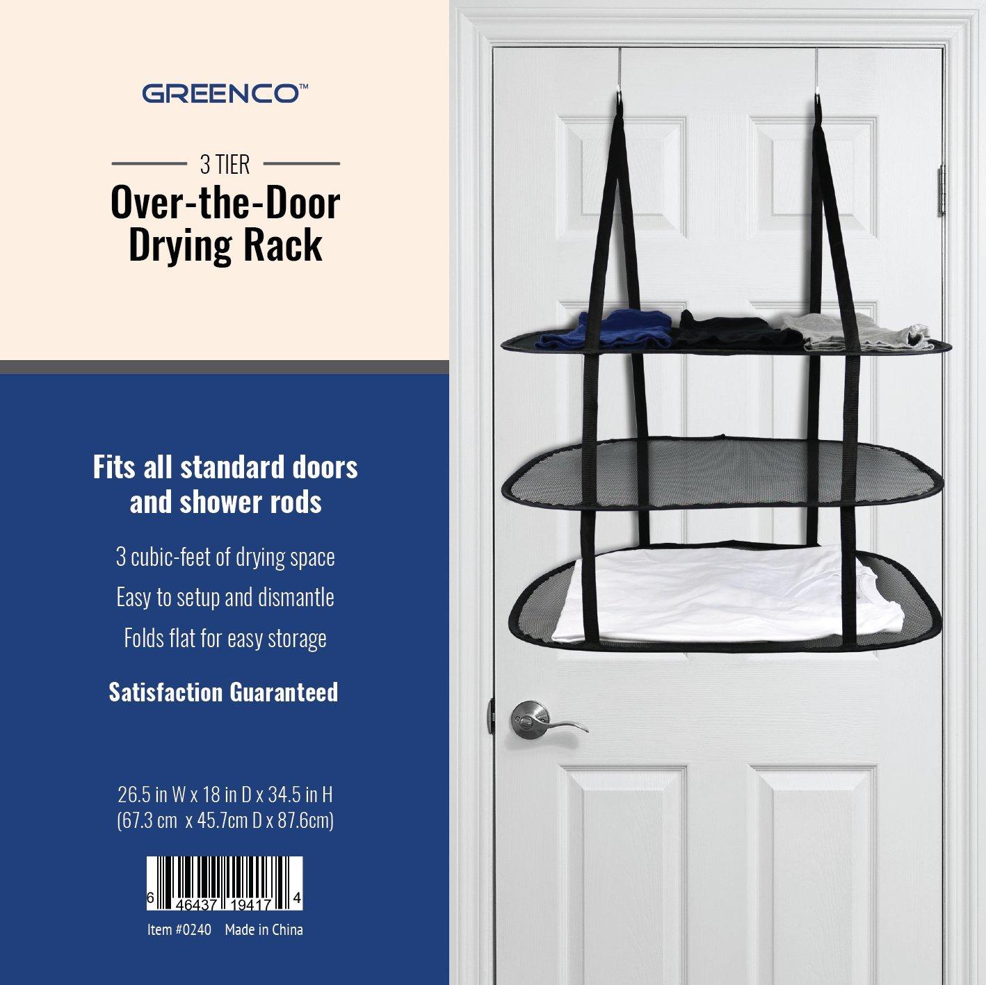 Greenco 3 Tier Over the Door Drying Rack