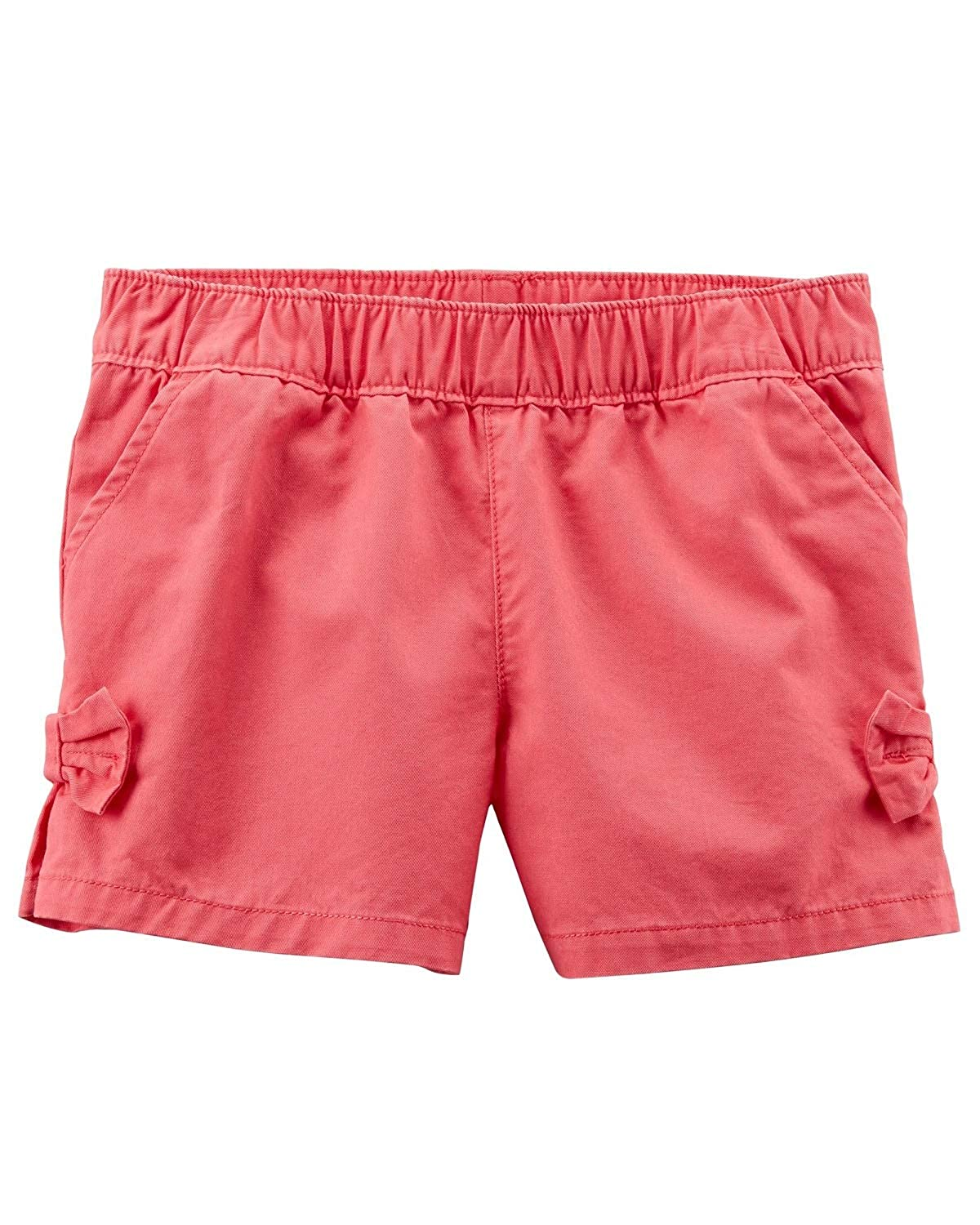 Carters Little Girls Easy Pull-On Bow Shorts Red 2-Toddler
