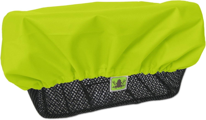 Madeforrain Regenschutz Abdeckung Für Fahrradkörbe Cityturtle Neongelb Bekleidung