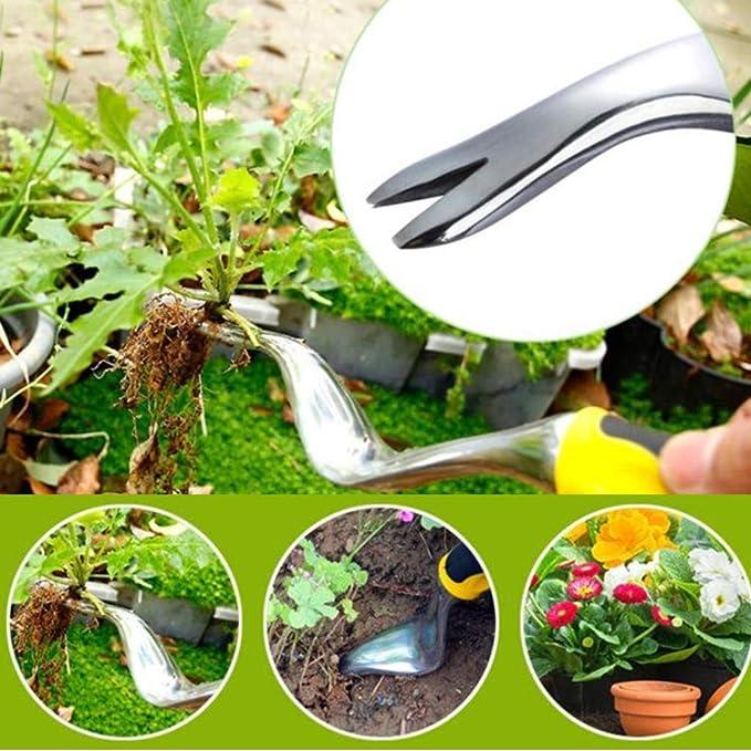Guguda Extractor Manual de Malas Hierbas para jardín, a Prueba de dobladuras, Diente de león, Excavadora rápida y ahorradora de Trabajo, Herramienta Ideal para jardín y jardín: Amazon.es: Jardín