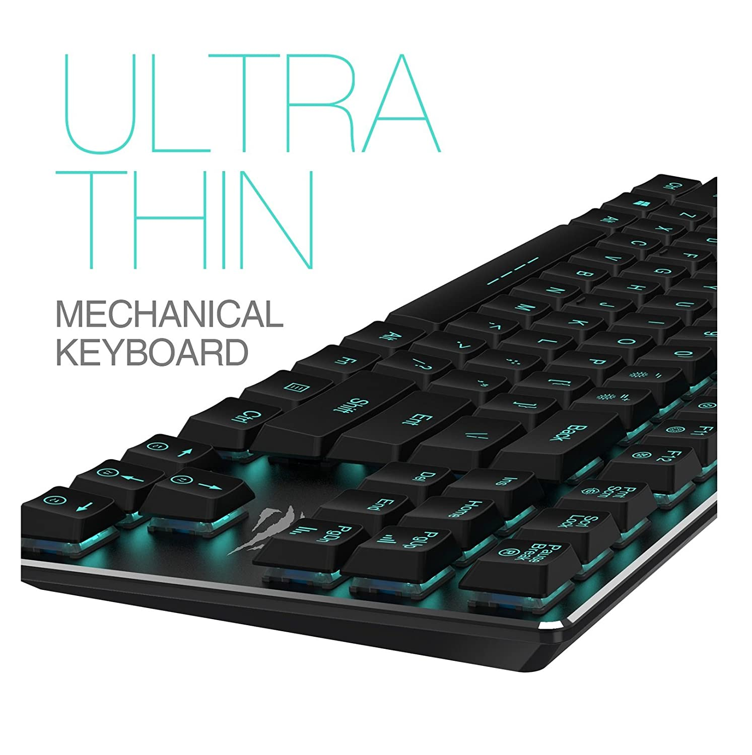 Amazon mechanical keyboard - Amazon Com Mechanical Keyboard Havit Backlit Wired Gaming Keyboard Extra Thin Light Kailh Latest Low Profile Blue Switches 87 Keys N Key Rollover