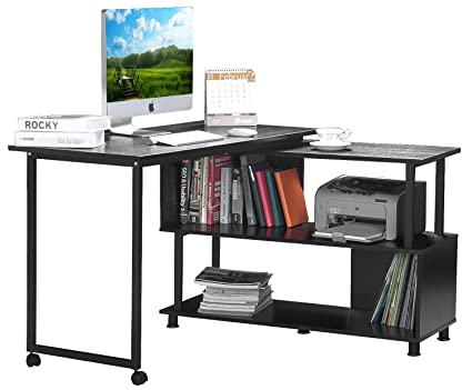 computer desk for home office. Modren Office Merax Rotatable Computer Desk Home Office Furniture Lshaped With Wheels Intended For Office P