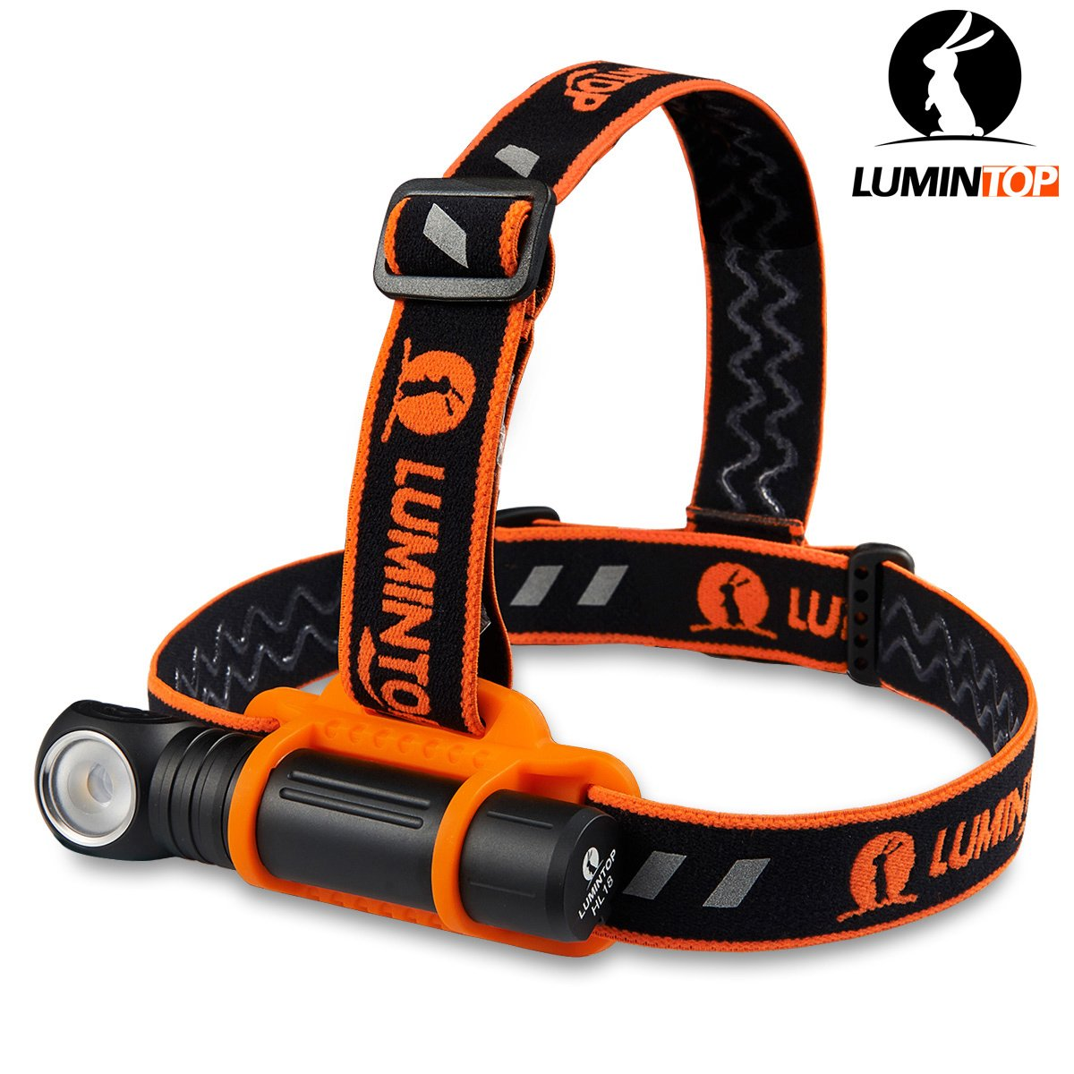LUMINTOP HL18 950 Lumens Rechargeable LED Super Bright Headlamp with 18650 Battery+Magetic Tail Anti-slip