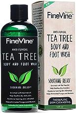 FineVine Antifungal Tea Tree Oil Body Wash - Made in USA - Helps Treat Eczema, Ringworm, Body Odor, Jock Itch, Acne, Toenail Fungus & Athlete - Best Antibacterial Soap for Skin Irritations.12fl oz
