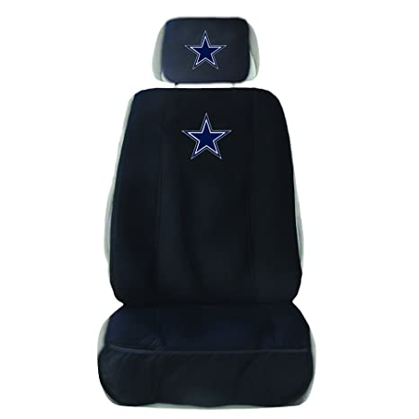 Fremont Die NFL Dallas Cowboys Seat Cover With Head Rest Black One Size