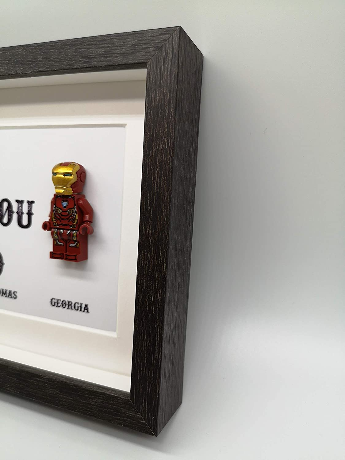 Iron Man LEGO/® Minifigure Personalised We Love you 3000 Picture Frame