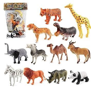 kinder mini figur plastik modell spielzeug spielen tiger giraffen tier