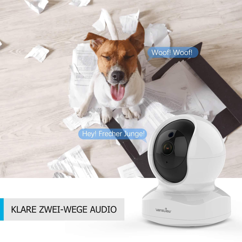 WLAN IP Kamera, Wansview Überwachungskamera WiFi FHD 1080P