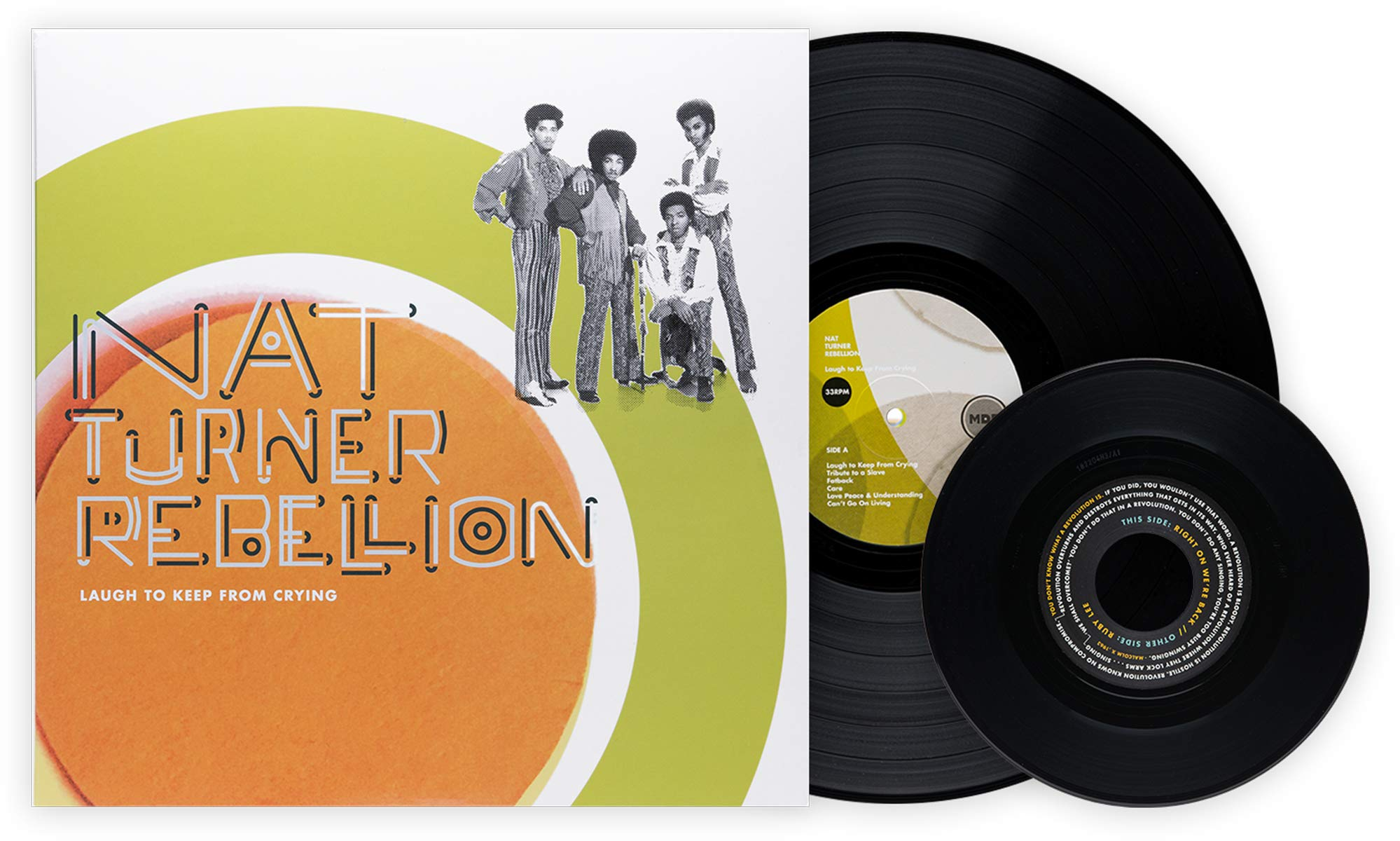 Nat Turner Rebellion - Laugh To Keep From Crying Exclusive Bundle [180 Gram Black Vinyl With Bonus 7'' & Companion Guide]