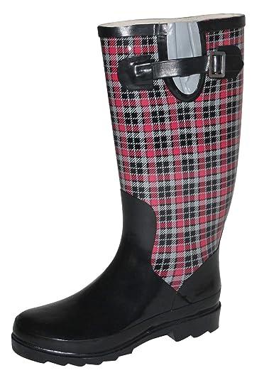 super popular c5c6d 9d6cb Zapato Damen Regenstiefel Gummistiefel Gr. 37 KARO schwarz ...