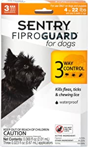 Sentry FiproGuard Topical Flea and Tick for Dogs