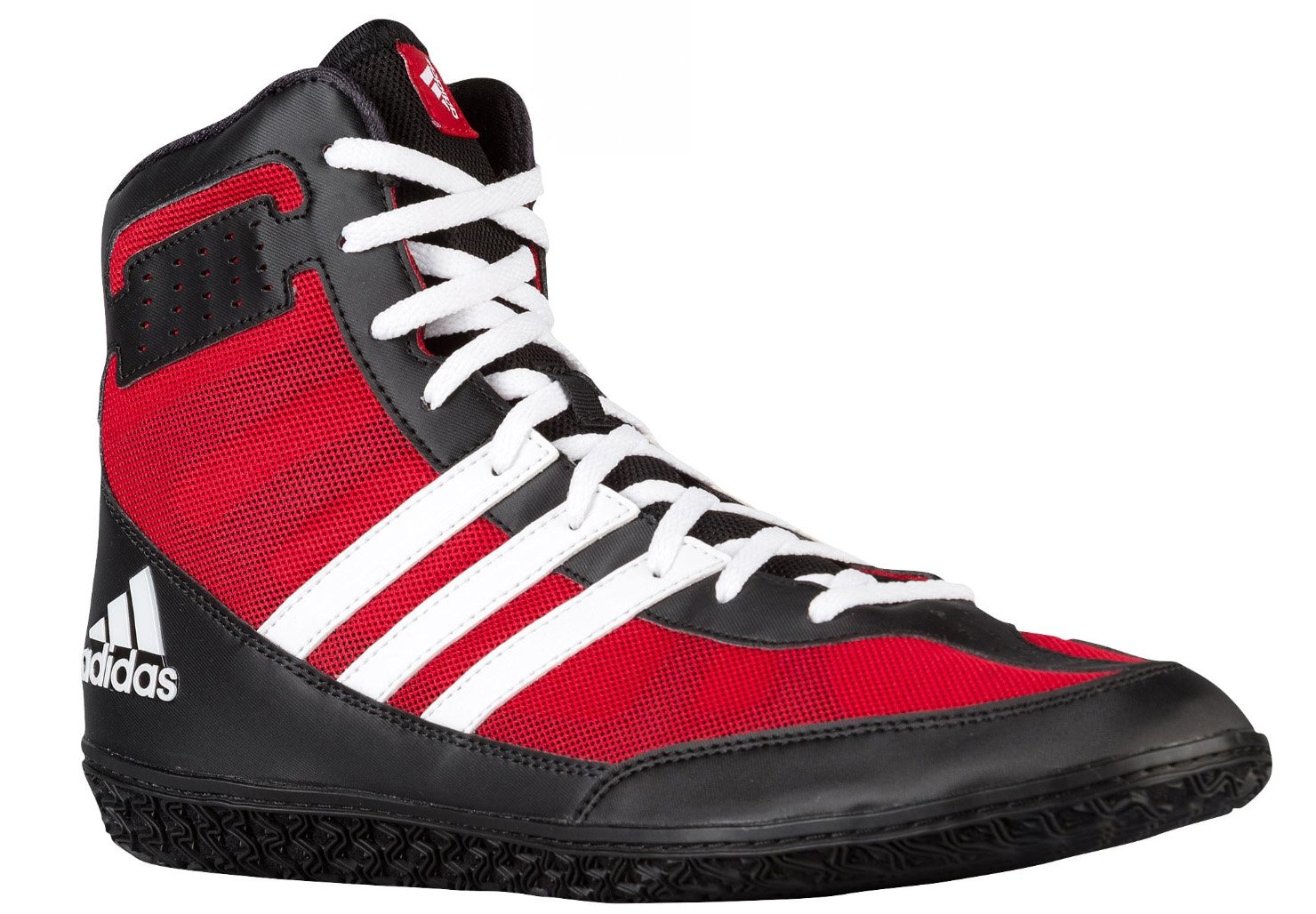 Adidas Performance Men\'s Mat Wizard.3 Wrestling Shoes Power Red/Black/White