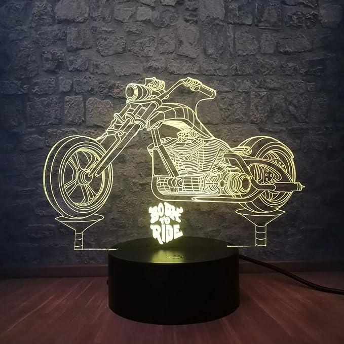 wangZJ Night Light 3d Illusion/luz decorativa/lámpara de ...