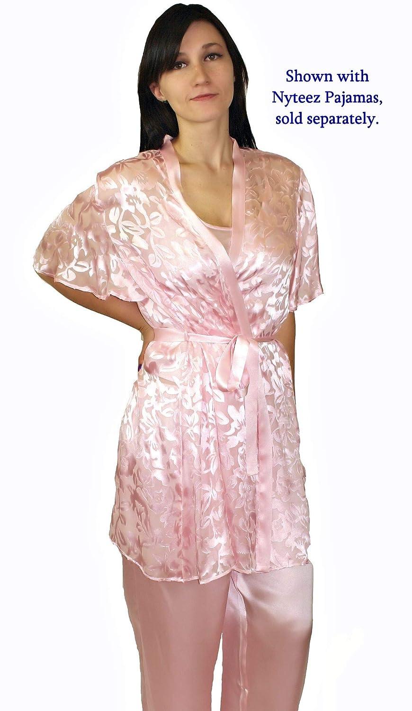 Nyteez Women s Silk Burnout Short Kimono Robe Cover-up at Amazon Women s  Clothing store  a375948c3