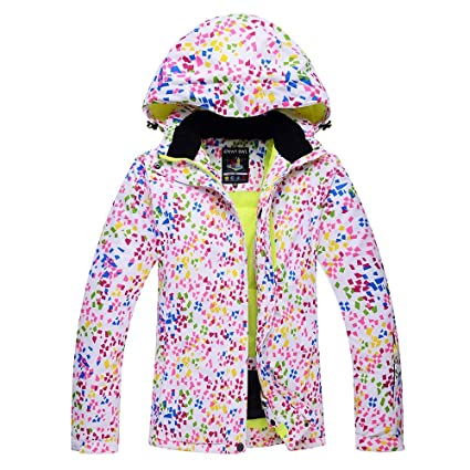 Zjsjacket Traje de Esqui Mujer Chaqueta de Nieve Impermeable a Prueba de Viento Abrigos térmicos de