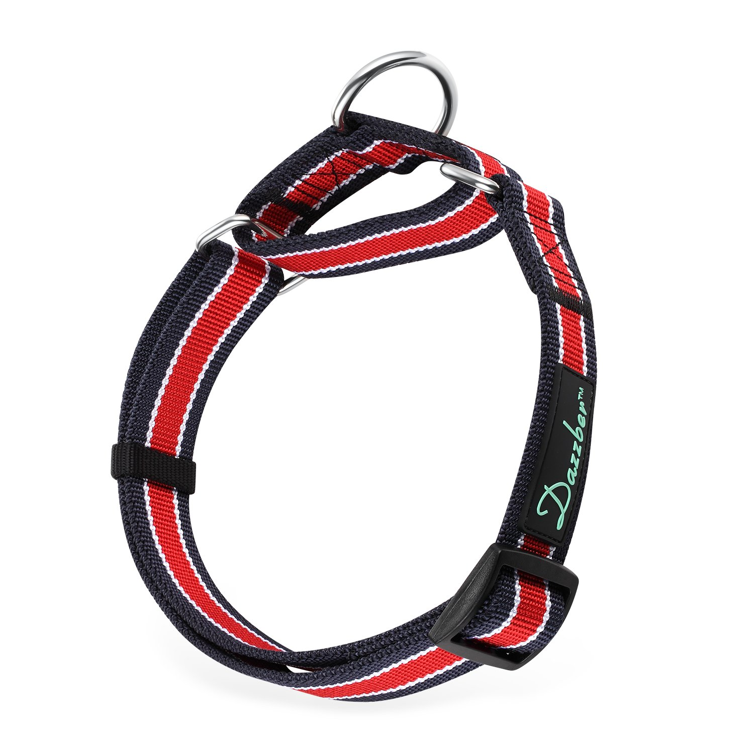 Dazzber Martingale Collars for Dogs - Durable and Strong, 1.2'' Width, Neck 20''-30'', Best for Large XLarge Dogs