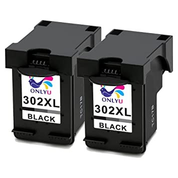 ONLYU 2-Pack Compatible HP 302XL 302 XL Cartucho de tinta para HP Envy 4520 4521 4522 4523 4524 4525 4527 4528 OfficeJet 3830 3831 3832 3833 3834 3835 ...