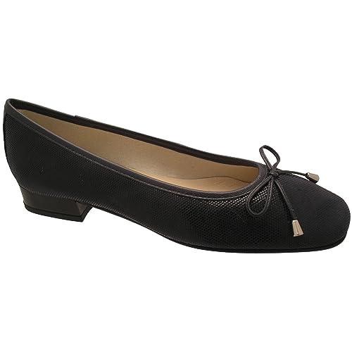 Riva Provence Leather women's Ballerina Black Size 38 GjZ0P