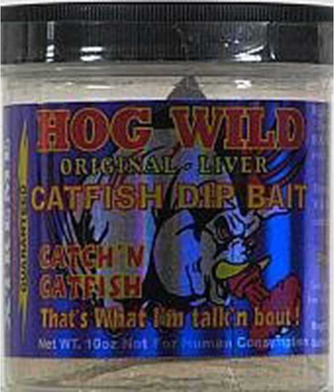 Magic Bait Catfish Hog Wild Original Liver Dip Bait, 10-Ounce, White