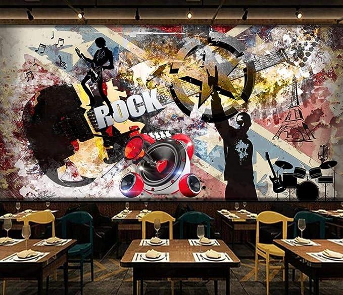 Mural Papel Pintado 3D Decoración Rock